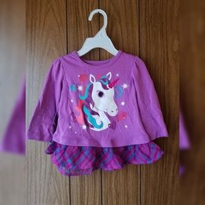 Girl's Purple Unicorn Top
